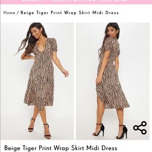 PrettyLittleThing Dresses - PRETTYLITTLETHING Zebra Midi Dress